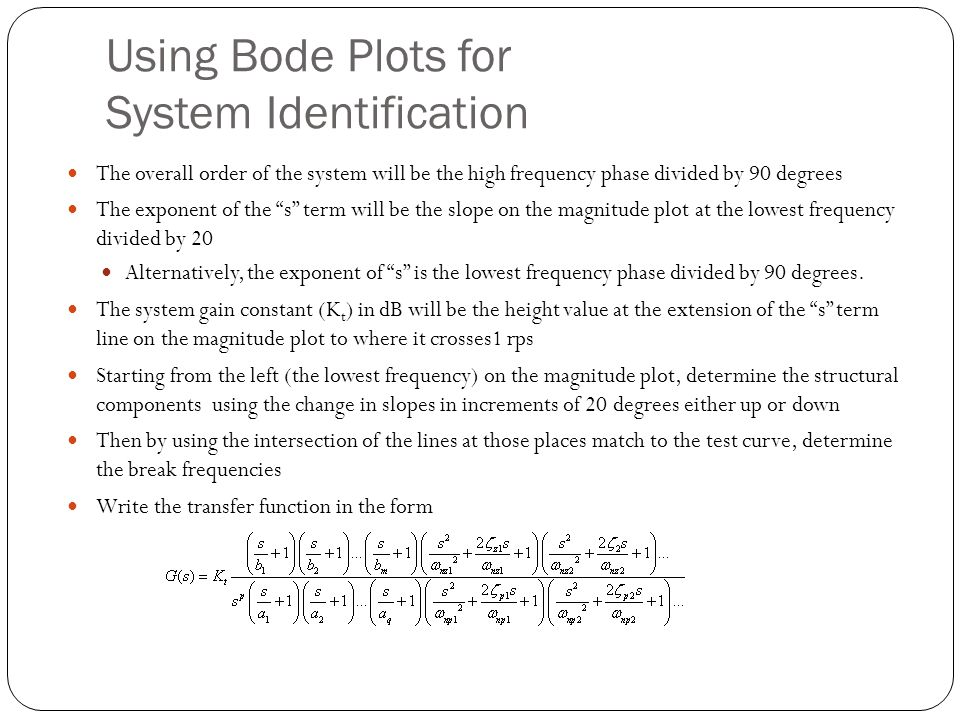 Using Bode Plots for System Identification