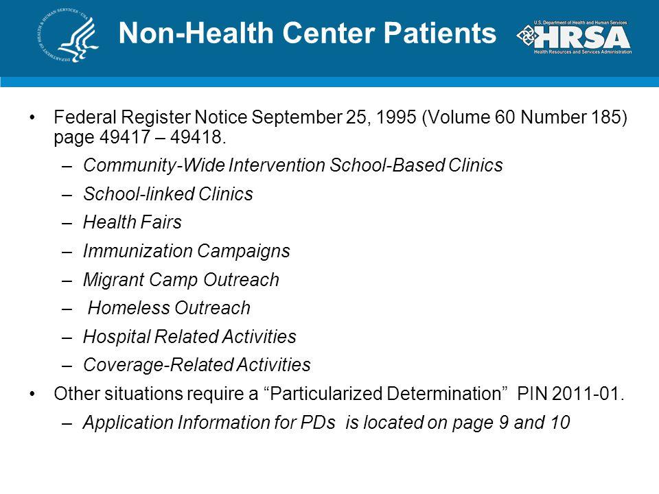 Non-Health Center Patients