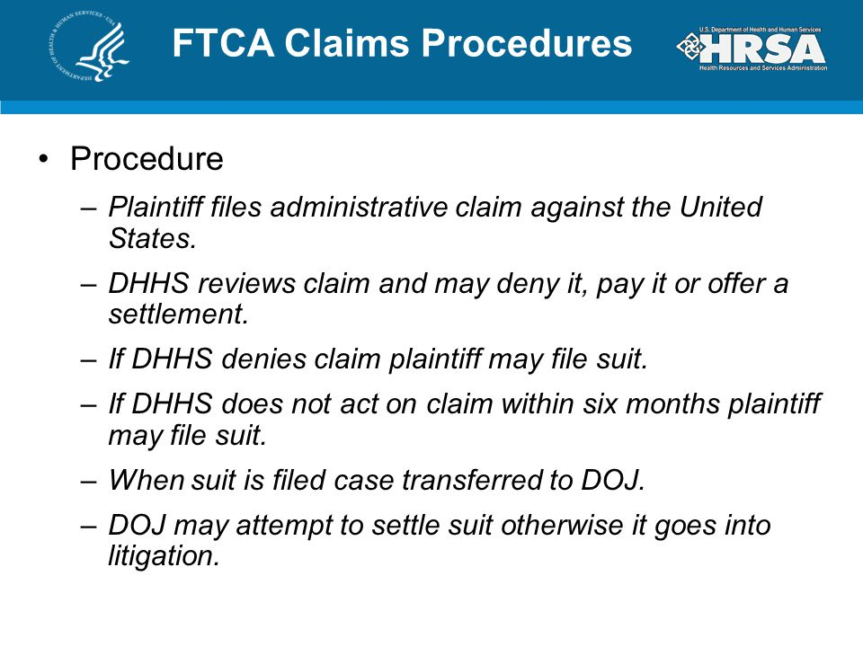 FTCA Claims Procedures