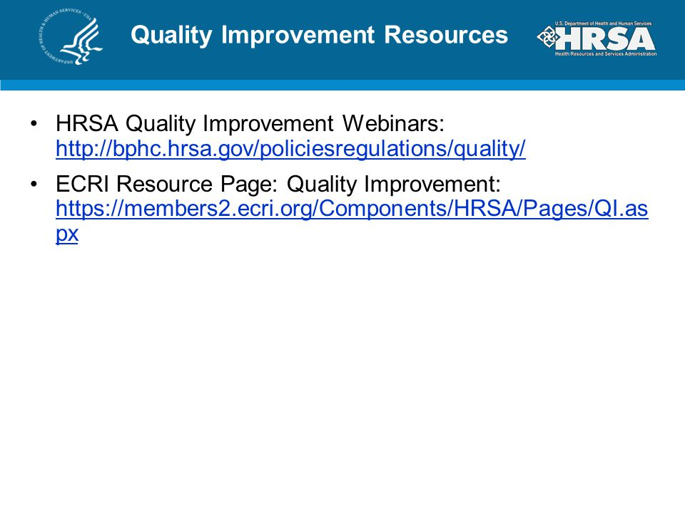 Quality Improvement Resources