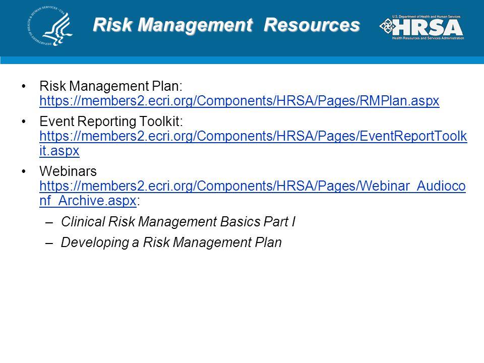 Risk Management Resources