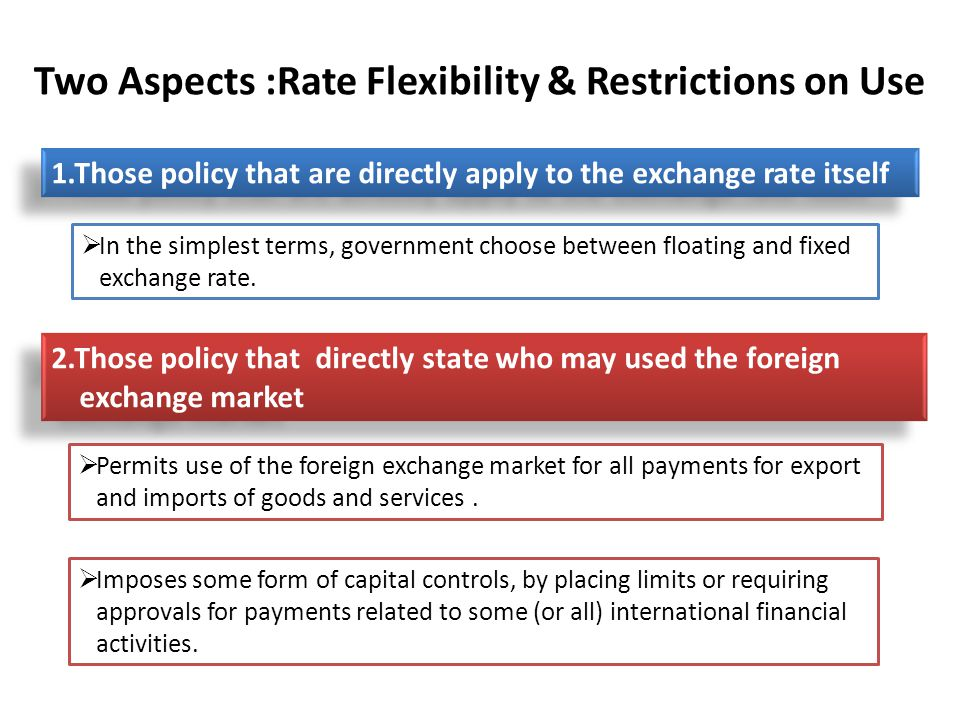 Two Aspects :Rate Flexibility & Restrictions on Use