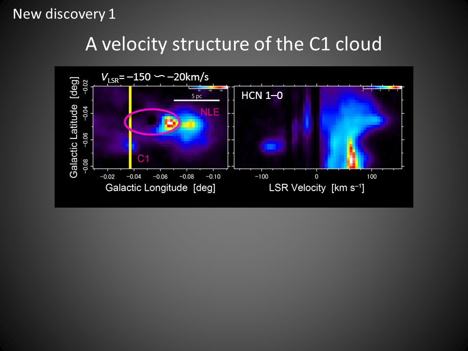 A velocity structure of the C1 cloud