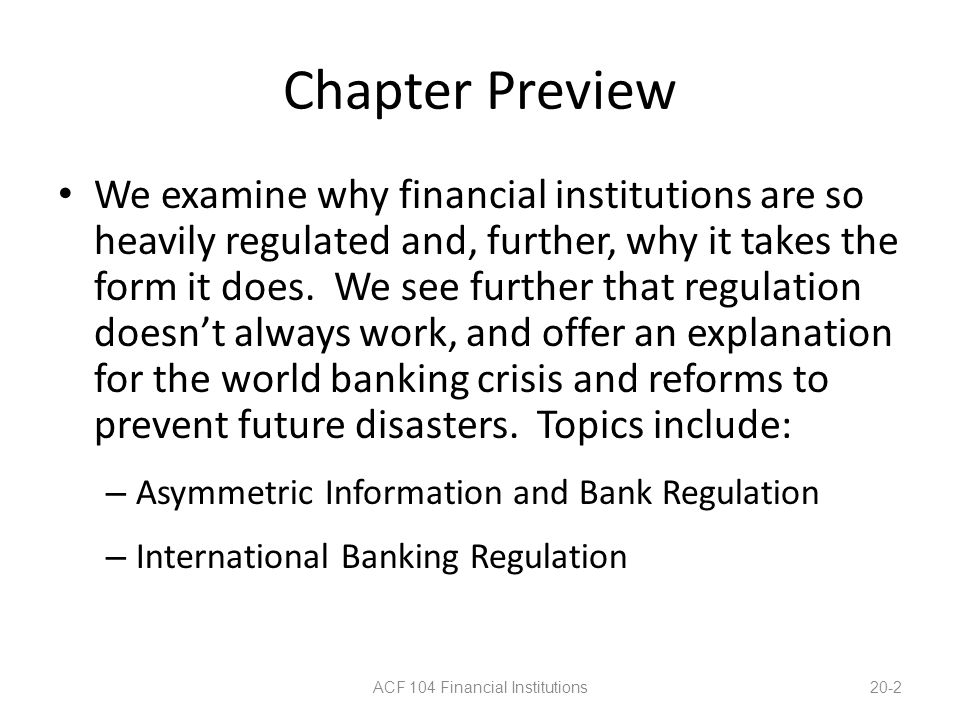 ACF 104 Financial Institutions