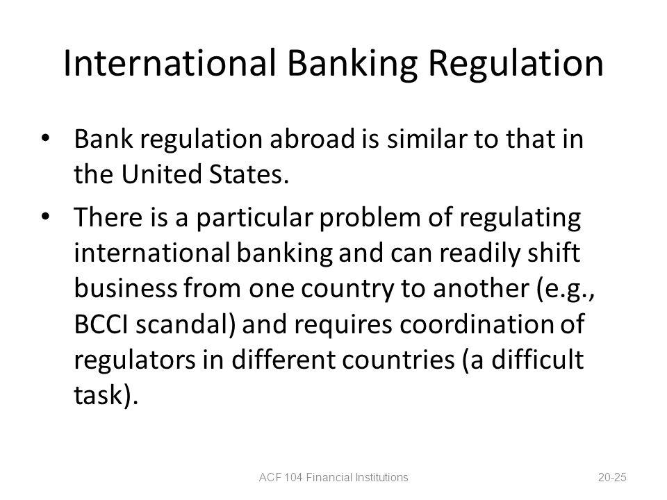 International Banking Regulation