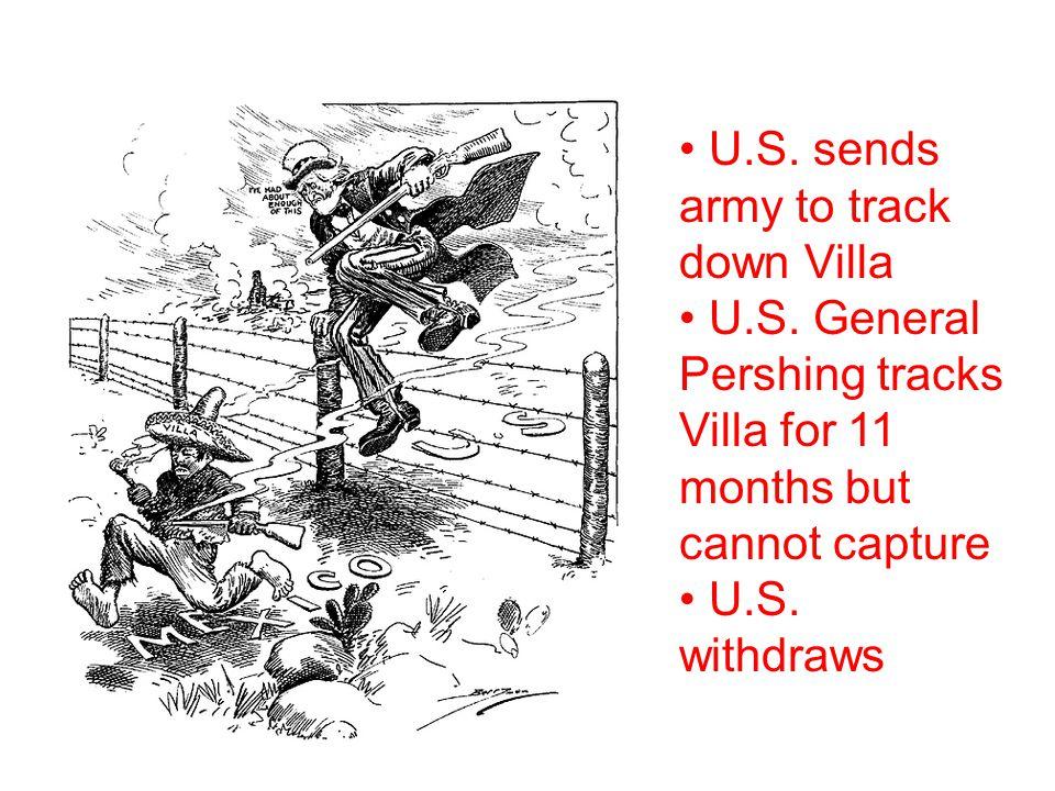U.S. sends army to track down Villa