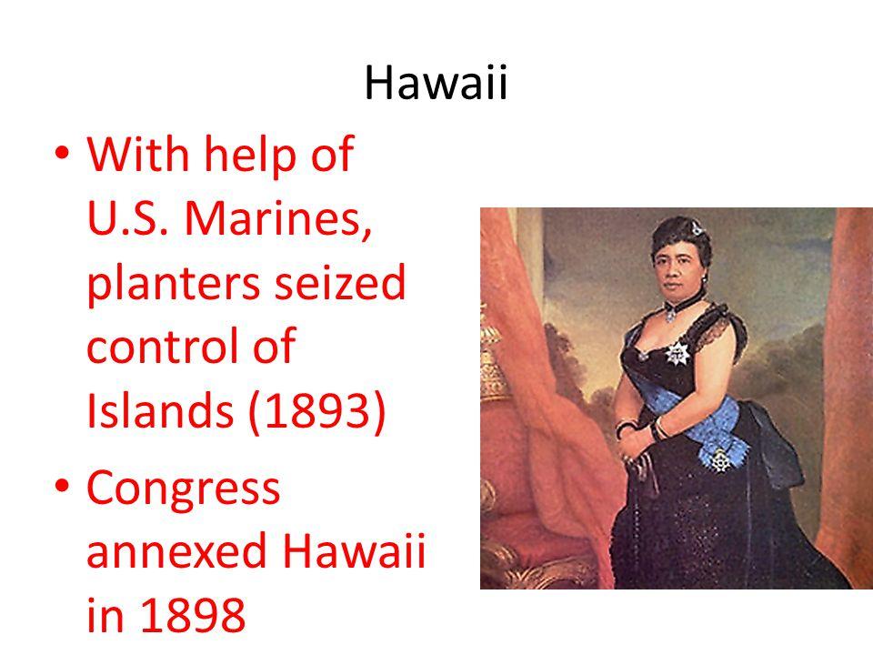 Hawaii With help of U.S.