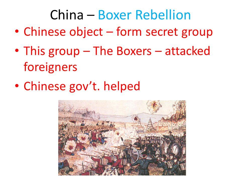 China – Boxer Rebellion