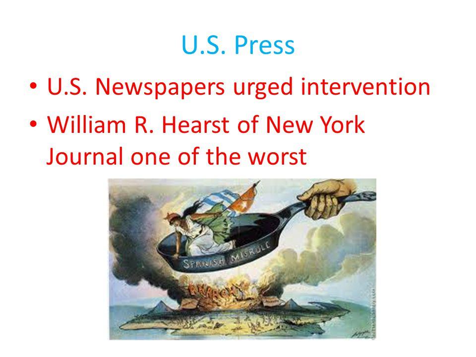 U.S. Press U.S. Newspapers urged intervention