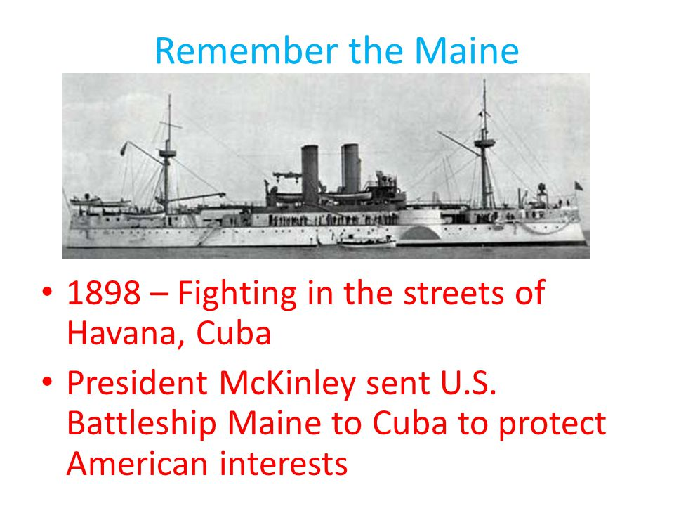 Remember the Maine 1898 – Fighting in the streets of Havana, Cuba