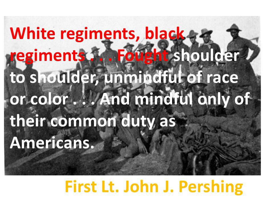 White regiments, black regiments