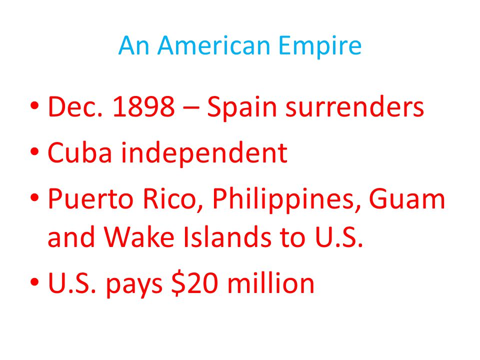 Puerto Rico, Philippines, Guam and Wake Islands to U.S.