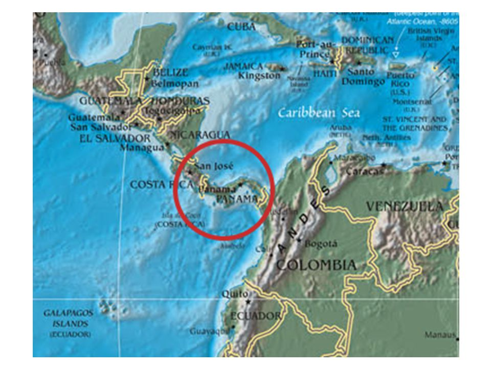 Isthmus of Panama Where is it