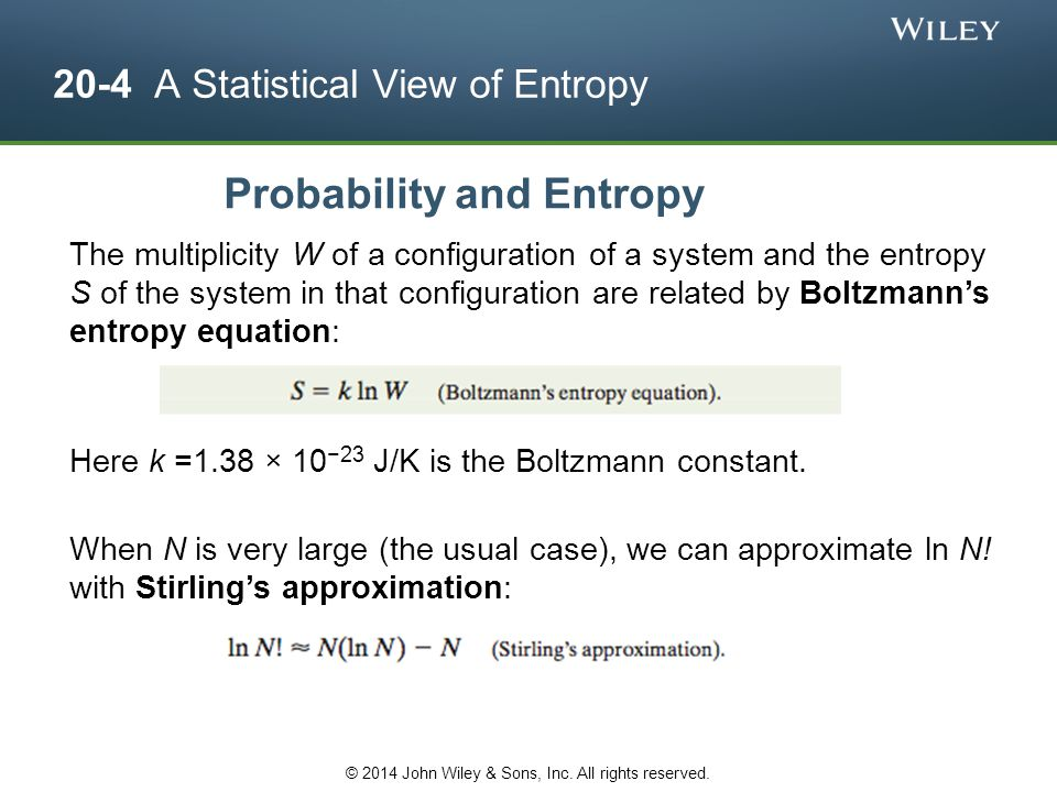 20-4 A Statistical View of Entropy