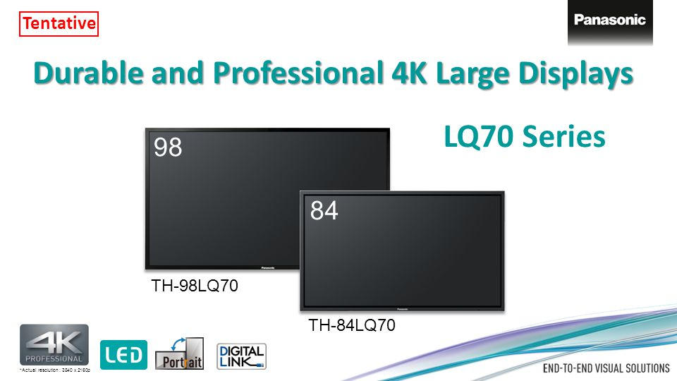Durable and Professional 4K Large Displays