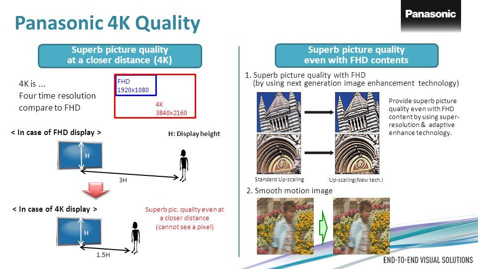 Panasonic 4K Quality Superb picture quality Superb picture quality
