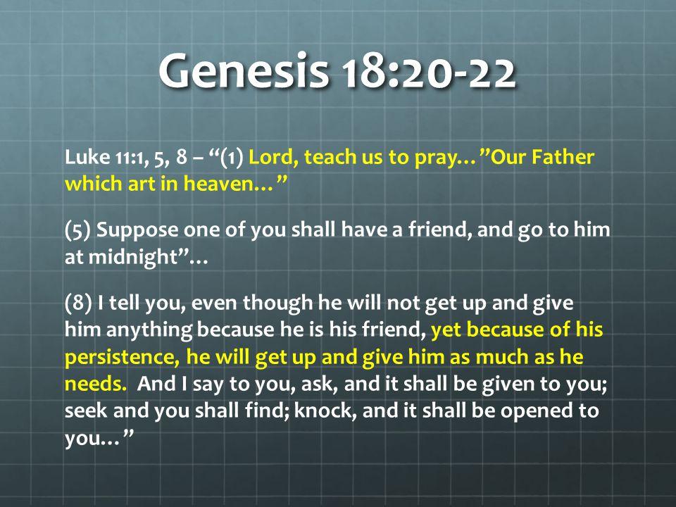 Genesis 18:20-22