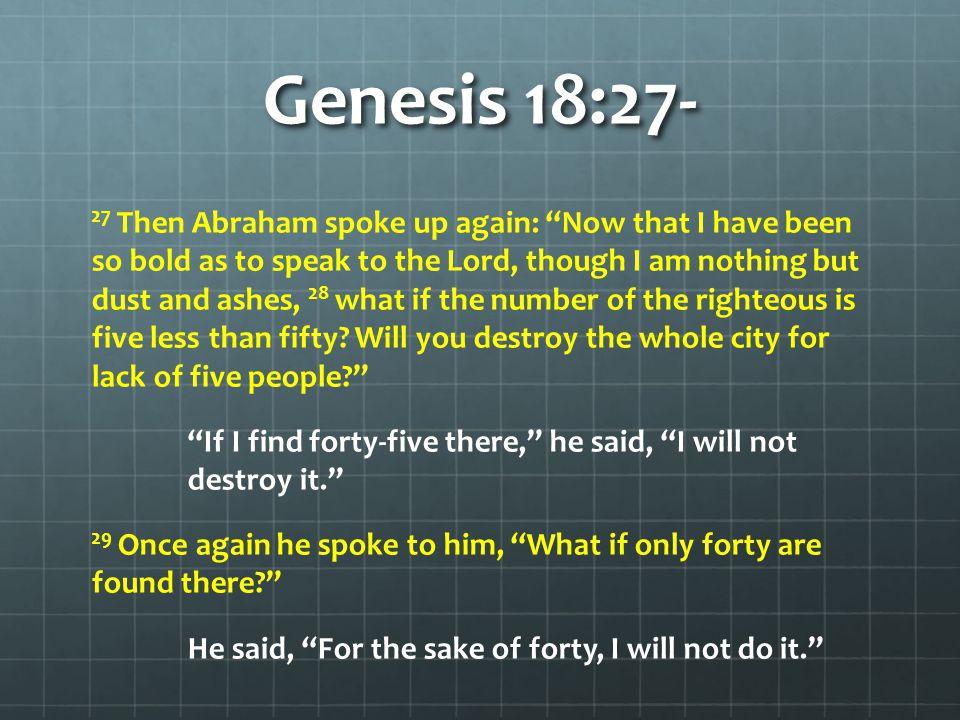 Genesis 18:27-
