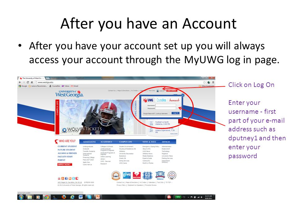 After you have an Account
