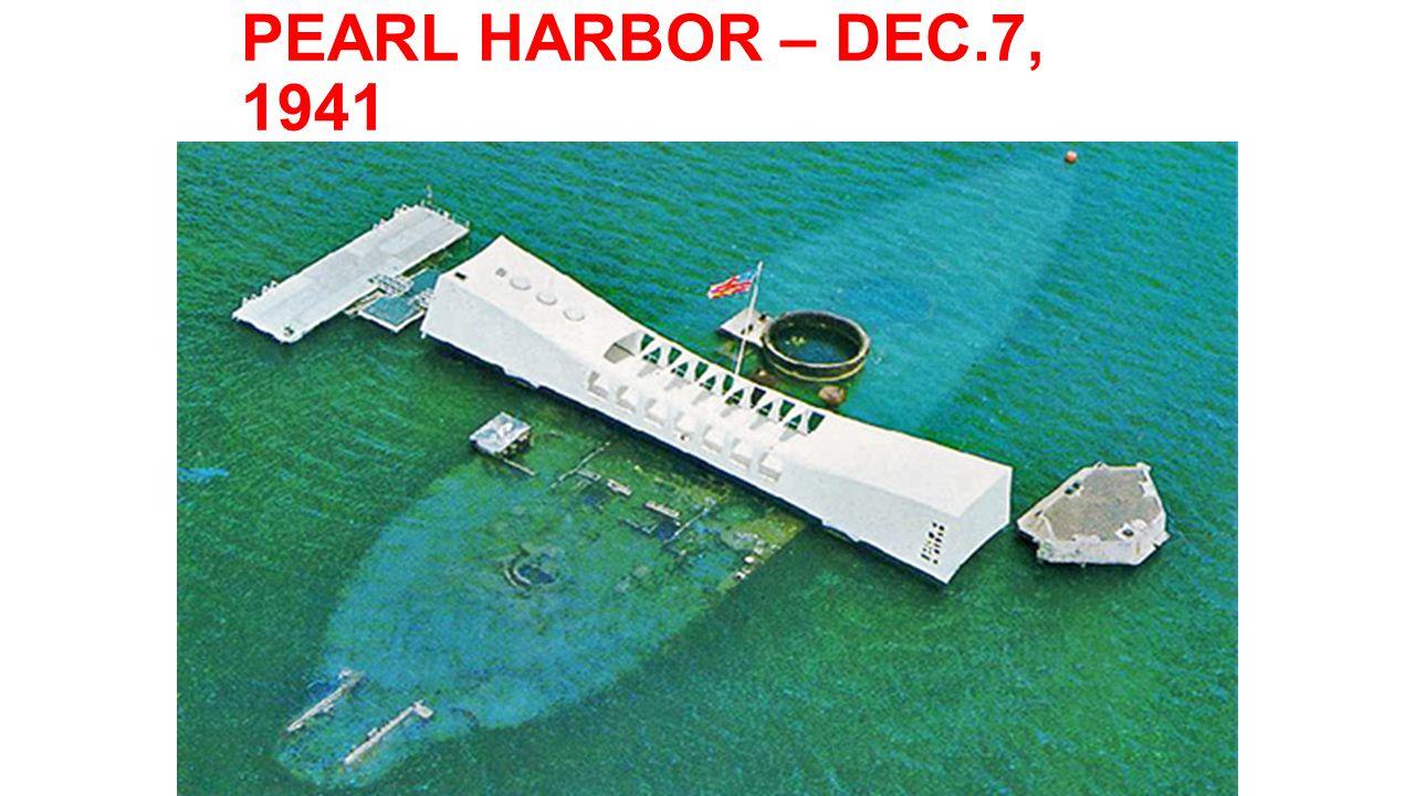 PEARL HARBOR – DEC.7, 1941