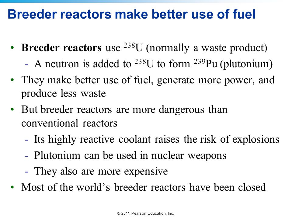 Breeder reactors make better use of fuel