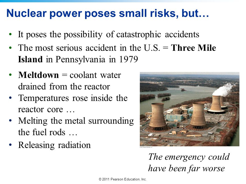 Nuclear power poses small risks, but…