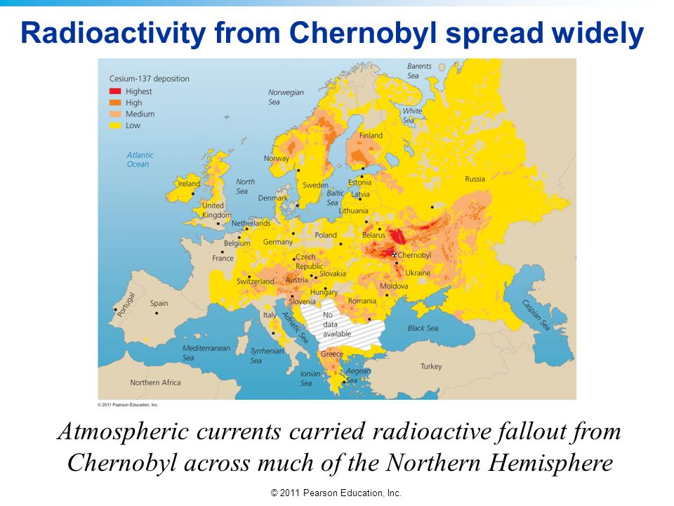 Radioactivity from Chernobyl spread widely