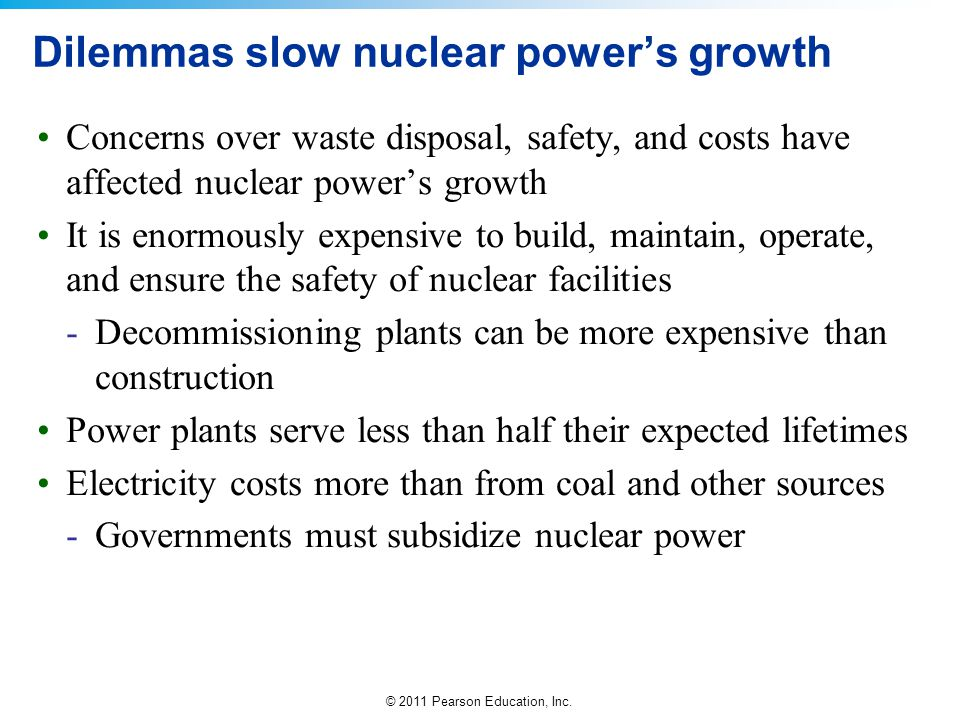 Dilemmas slow nuclear power's growth