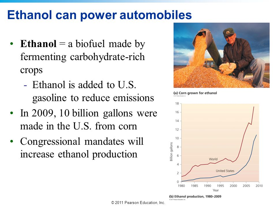 Ethanol can power automobiles