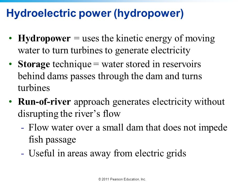 Hydroelectric power (hydropower)