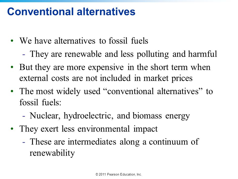 Conventional alternatives