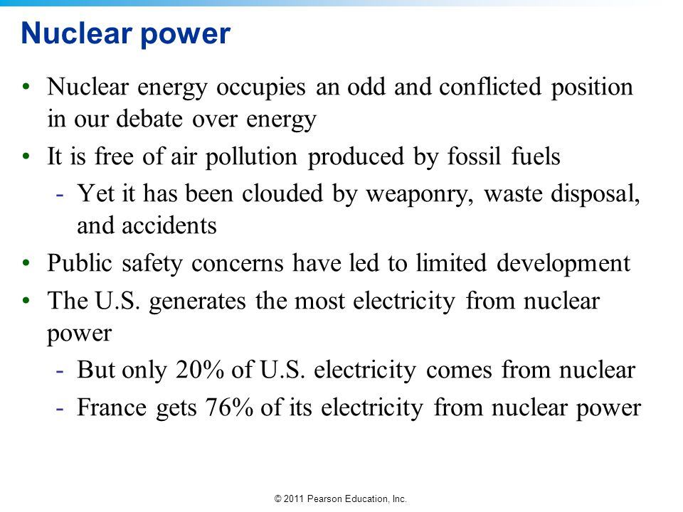 Nuclear power Nuclear energy occupies an odd and conflicted position in our debate over energy.