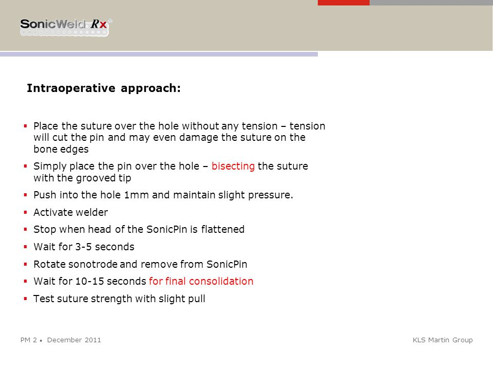 Intraoperative approach: