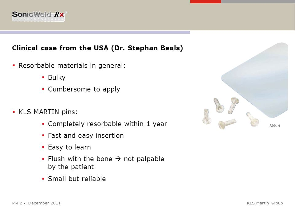 Clinical case from the USA (Dr. Stephan Beals)