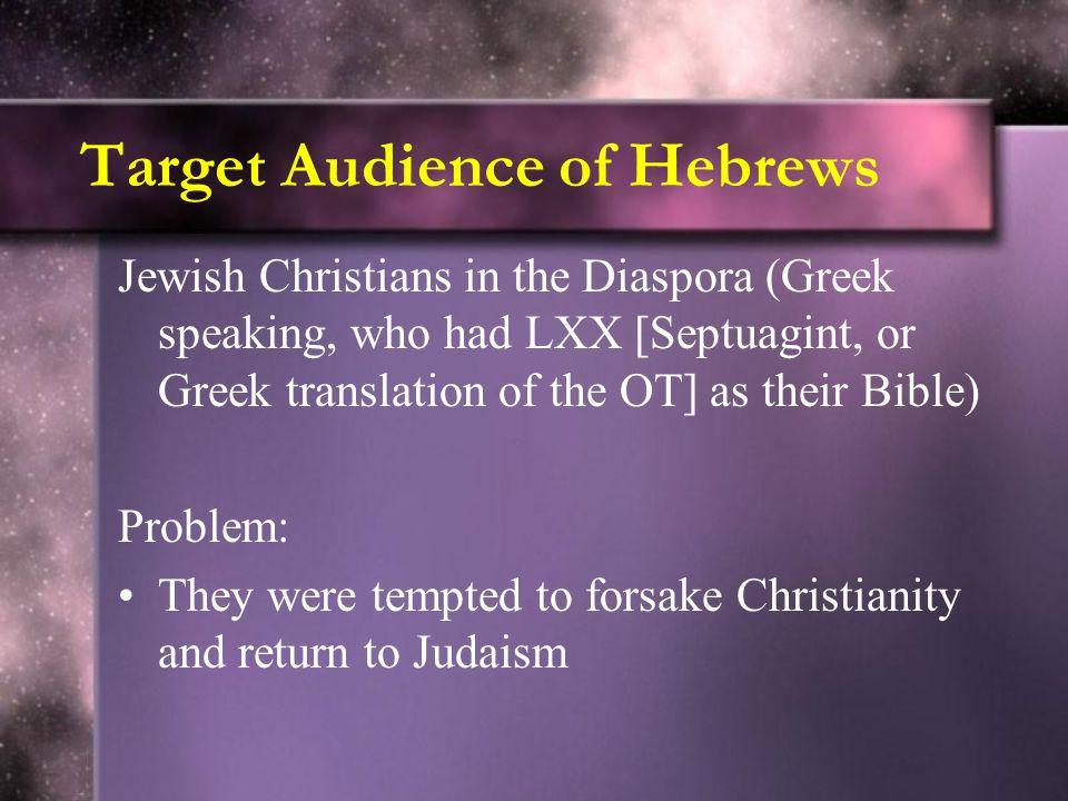 Target Audience of Hebrews
