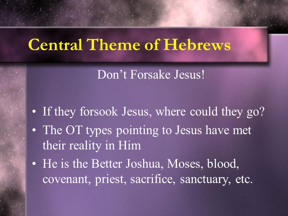 Central Theme of Hebrews