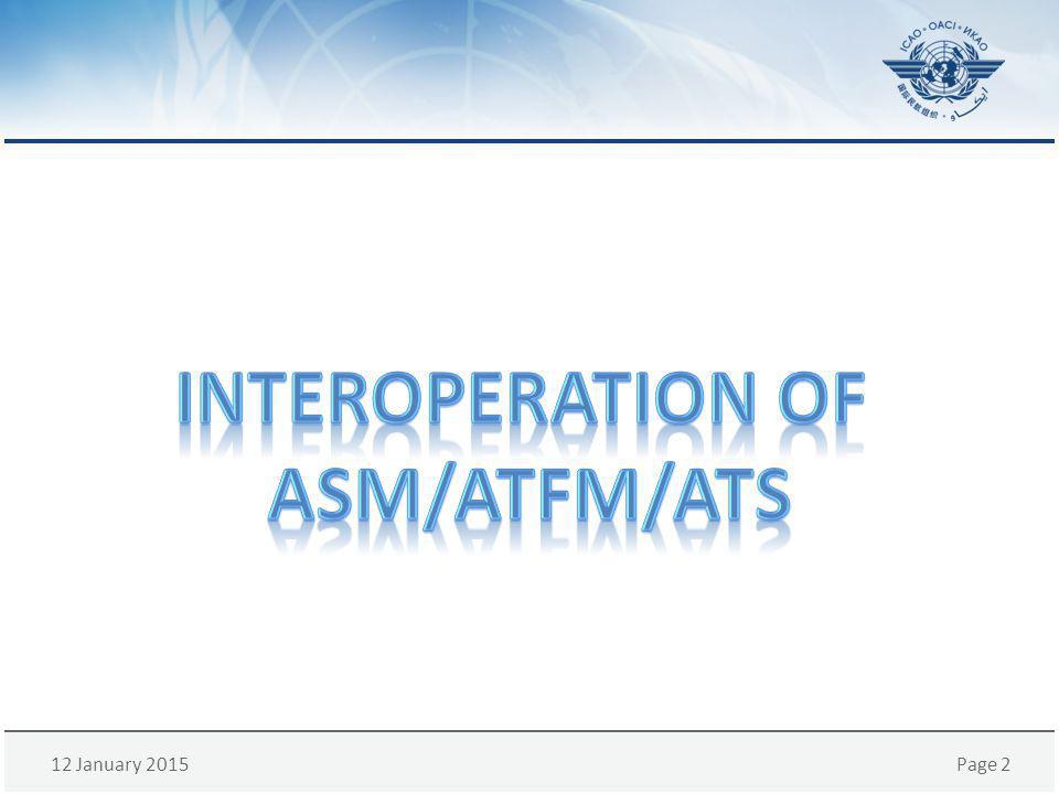 Interoperation of ASM/ATFM/ATS