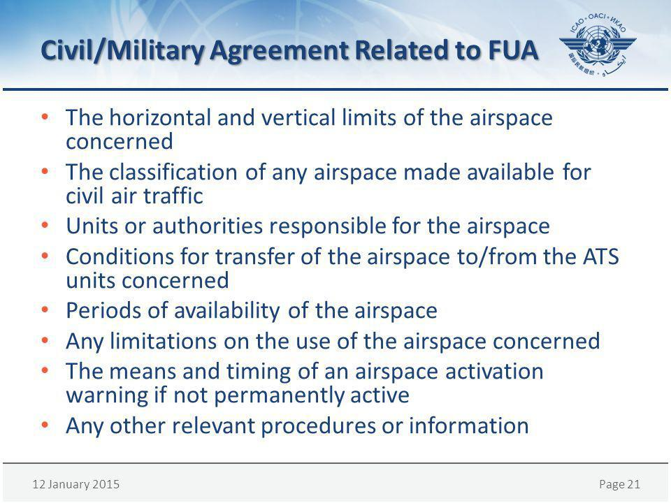 Civil/Military Agreement Related to FUA
