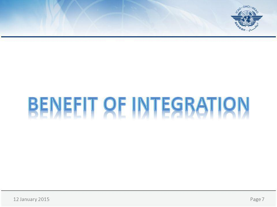 Benefit of integration
