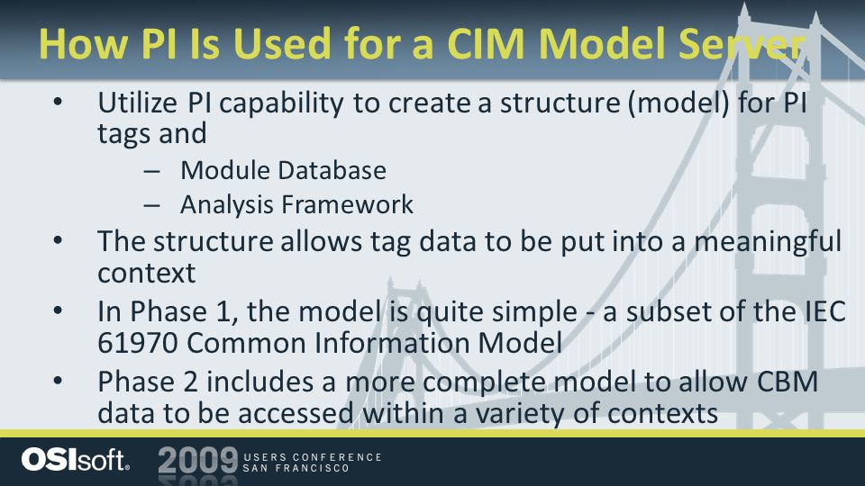 How PI Is Used for a CIM Model Server
