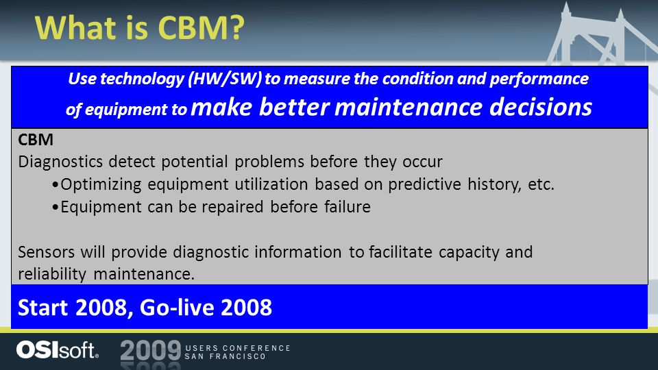 condition based maintenance vs phase based Condition based maintenance (cbm) is a maintenance strategy that, simply put,   in real time, maintenance personnel can identify an adverse change in one or   the first phase to implement a condition based maintenance.