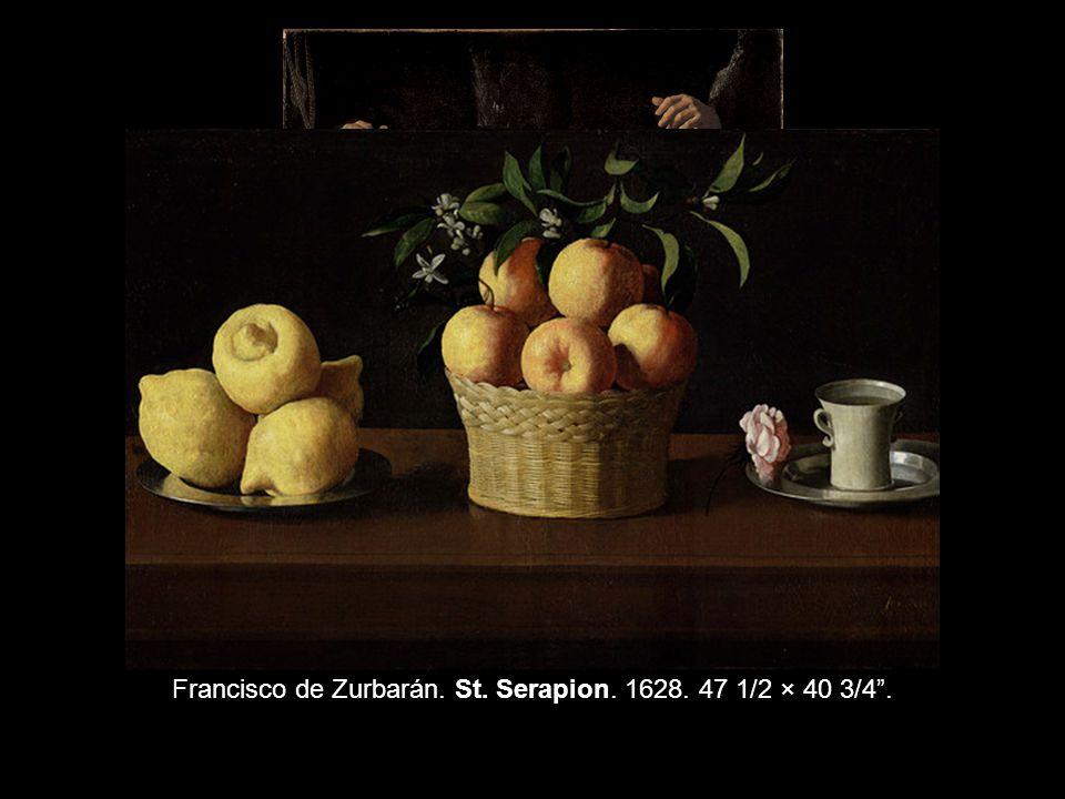 Francisco de Zurbarán. St. Serapion. 1628. 47 1/2 × 40 3/4 .