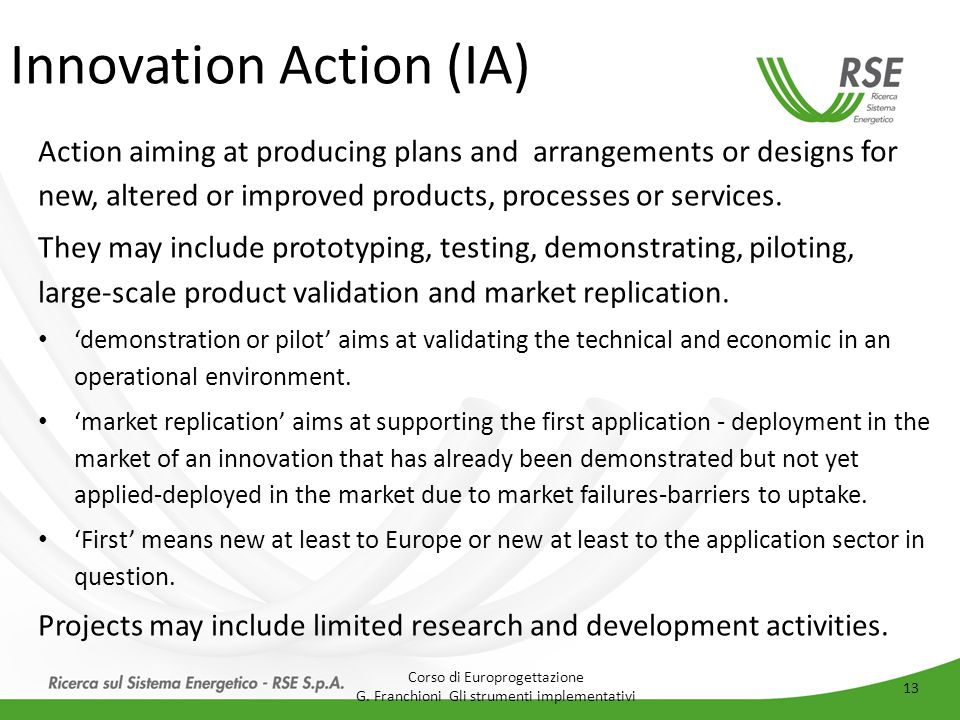 Innovation Action (IA)