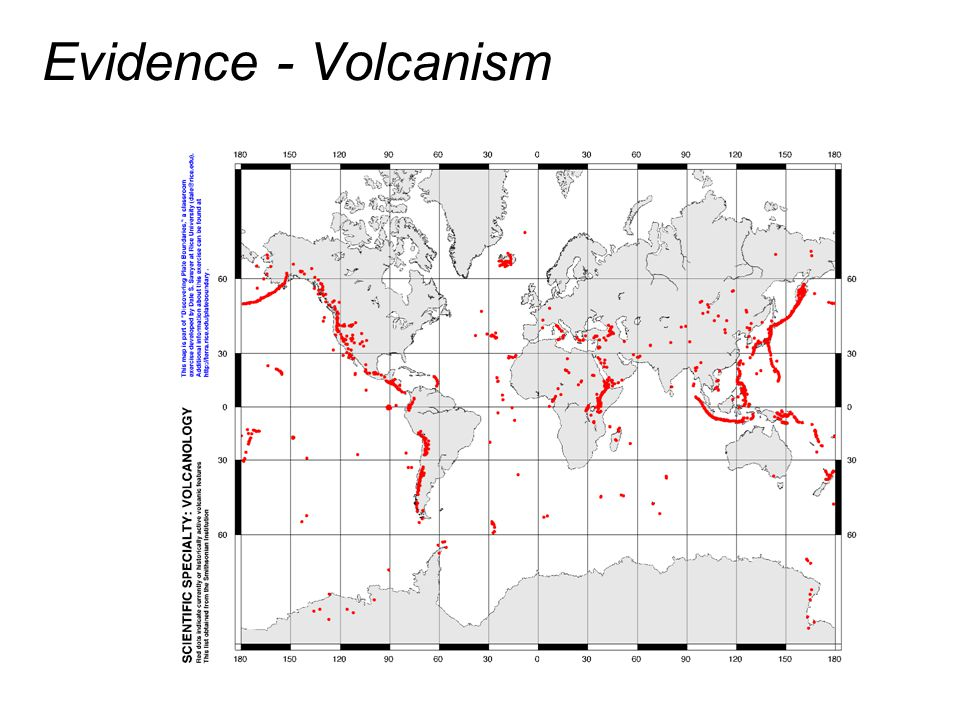 Evidence - Volcanism