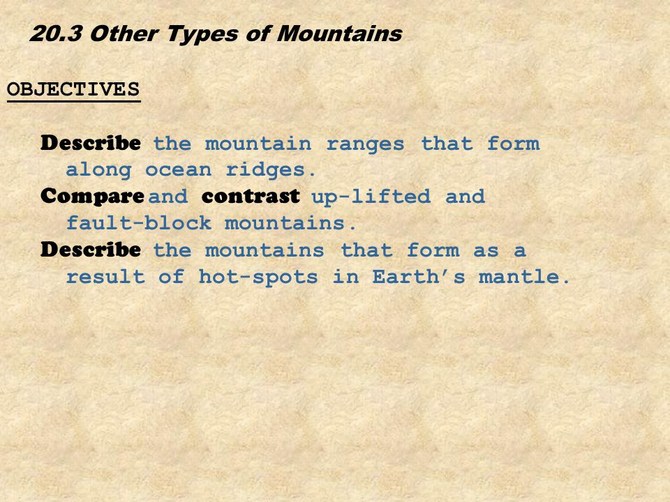 20.3 Other Types of Mountains
