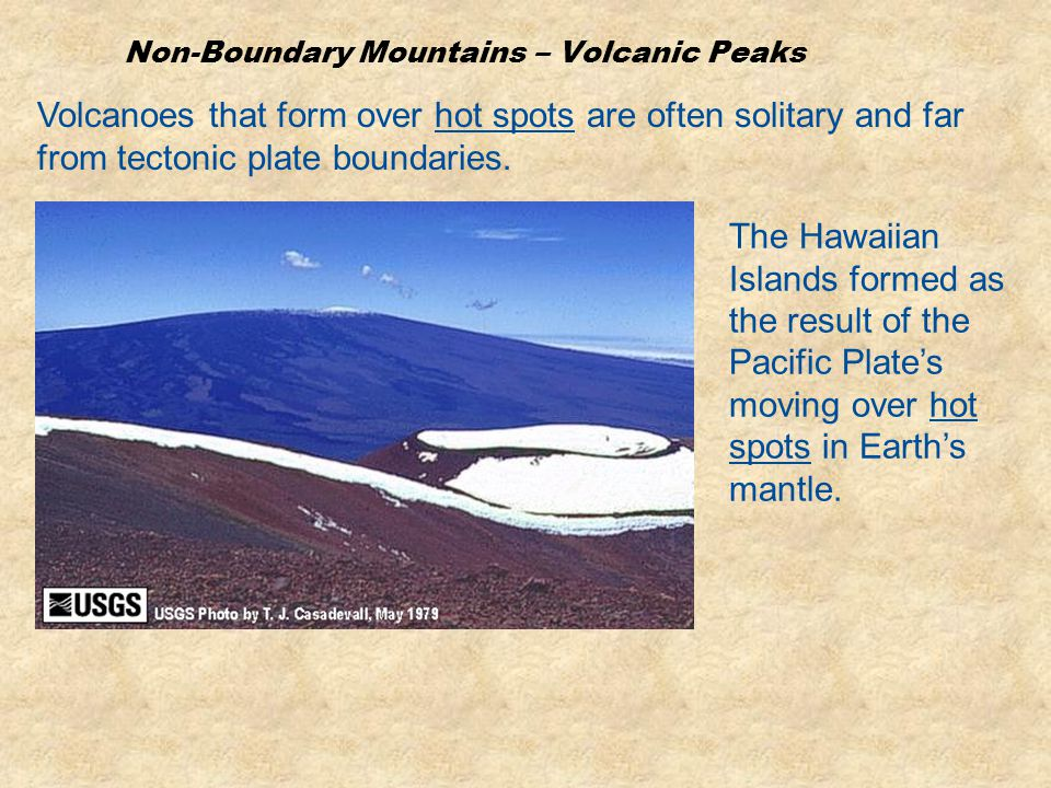 Non-Boundary Mountains – Volcanic Peaks