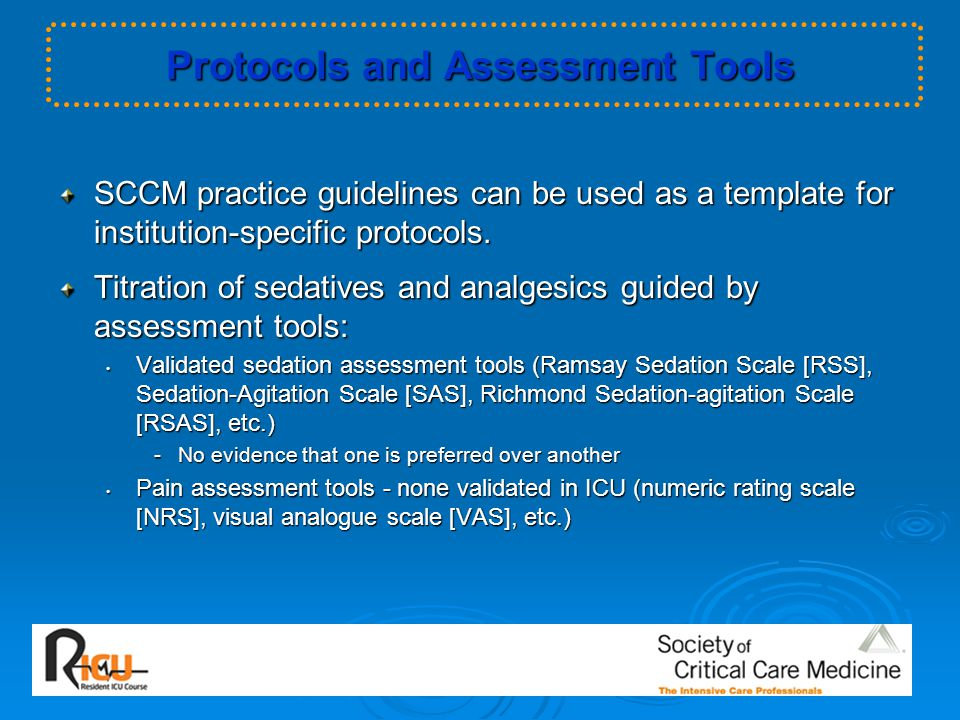 Protocols and Assessment Tools