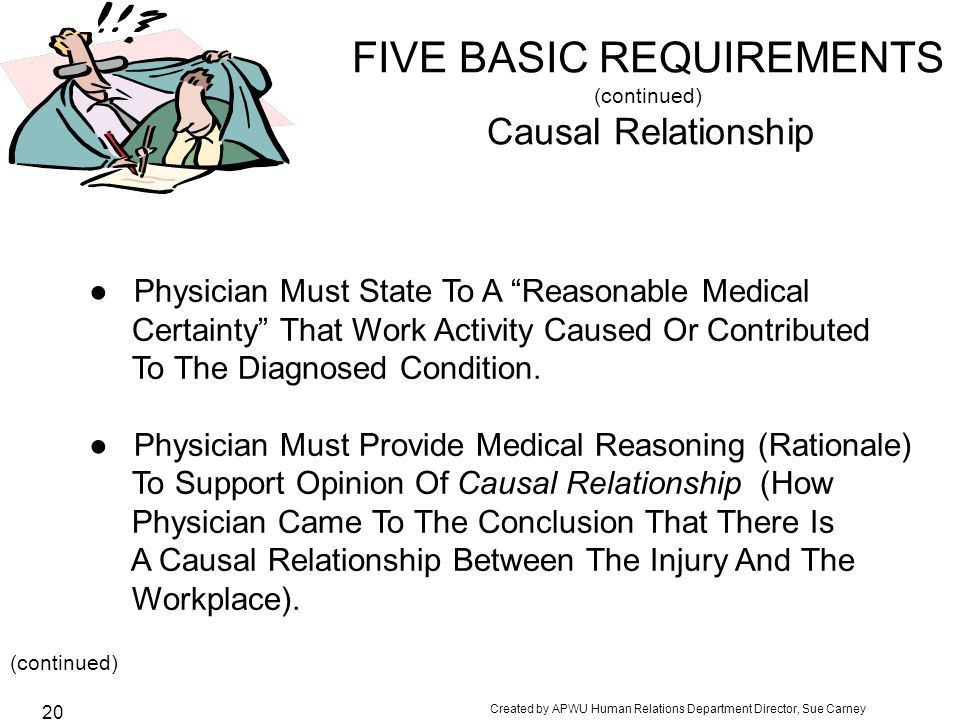 FIVE BASIC REQUIREMENTS (continued) Causal Relationship