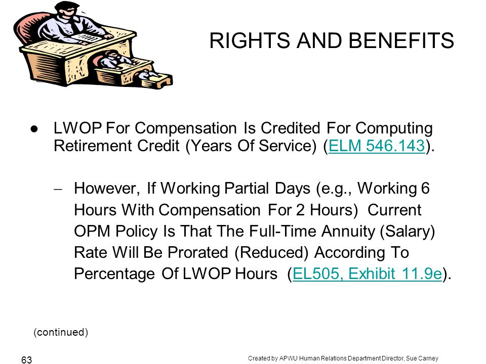 (continued) RIGHTS AND BENEFITS