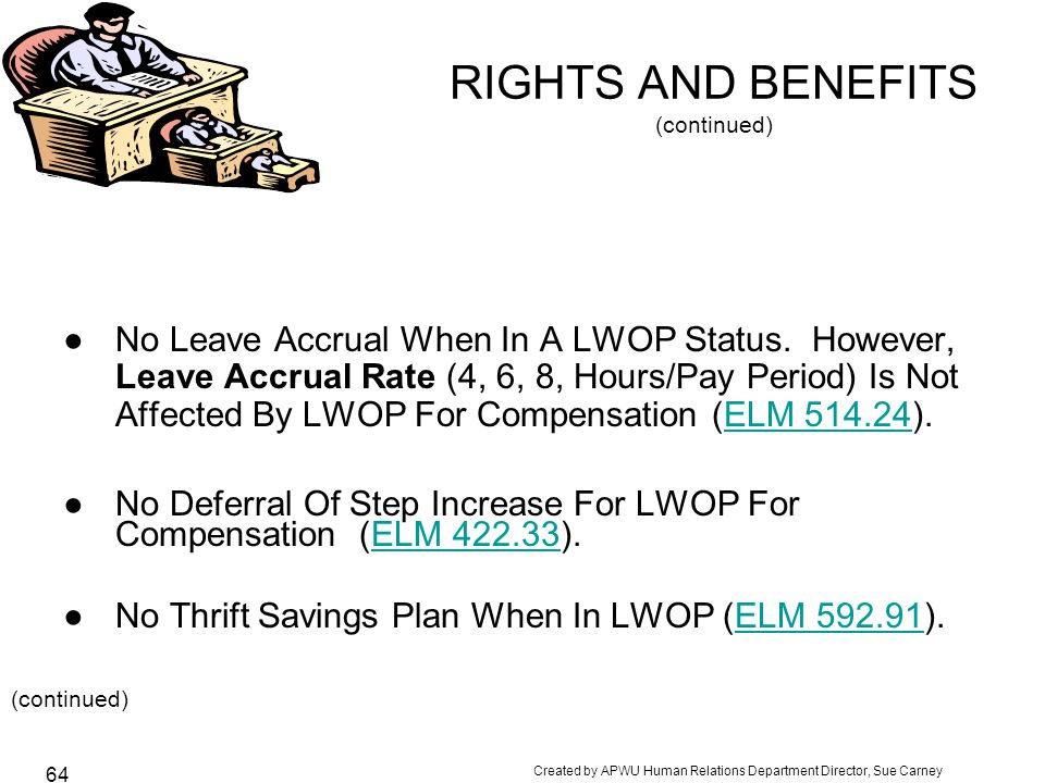 RIGHTS AND BENEFITS (continued)